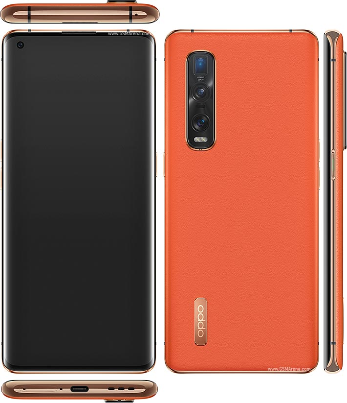 oppo find x2 pro orange leather