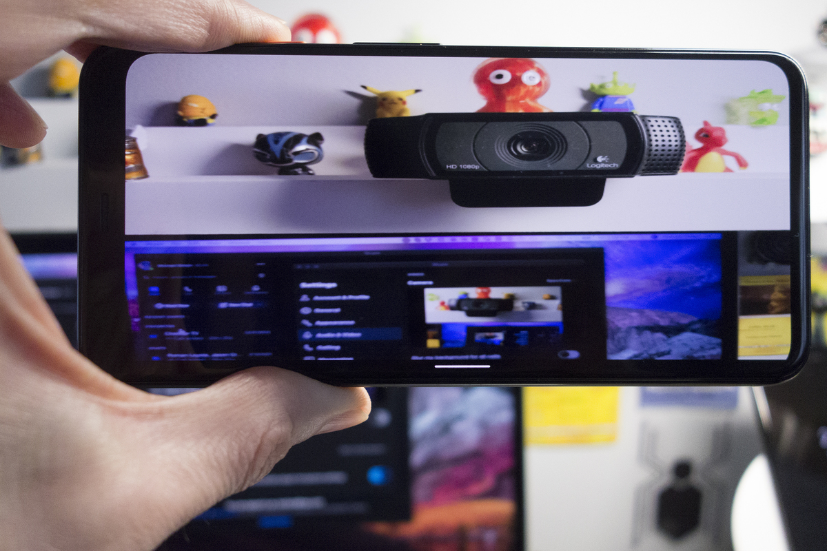 Android smartphone as a webcam for your PC