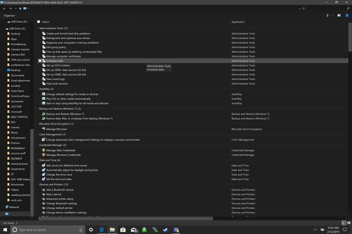 Enable God Mode aon Windows 10