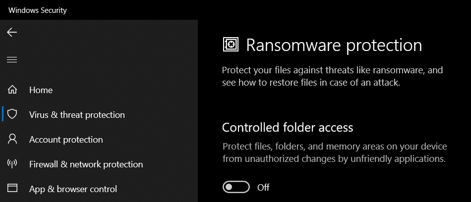 Enable ransomware