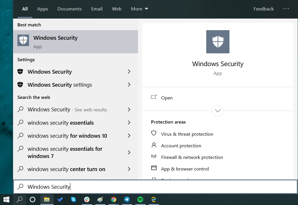 Search Security app