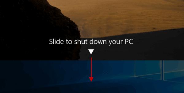 SlideToShutDown Windows Feature
