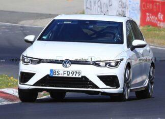 2021 VW Golf R new spy photos