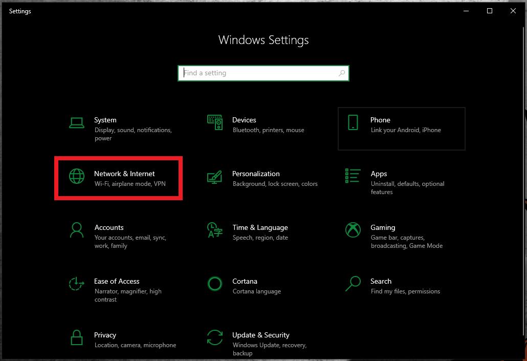 Windows 10 WiFi Hotspot Network and Internet