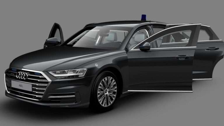 Audi A8 L Security armored revealed in Russia: It weighs 3,875 KG
