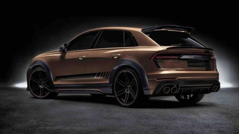 Audi RS Q8 with gold details and dizzying price
