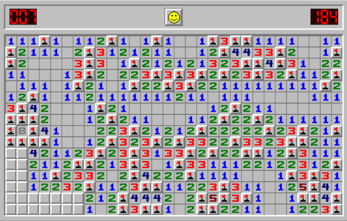 Commonly Found Minesweeper Theme