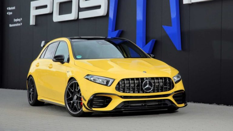 Mercedes-AMG A45 S Boosted to 525 HP by Posaidon