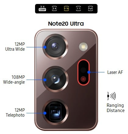 Samsung galaxy Note 20 Ultra Camera min