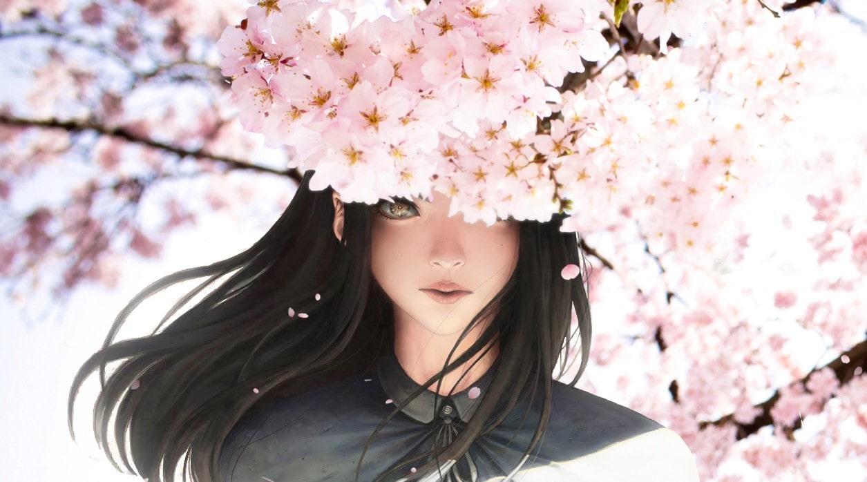 Blossom and Anime Girl Live Wallpaper