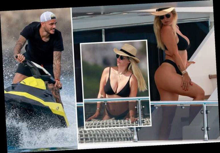 Wanda Nara caught while poses in a bikini snaps taken by her young son