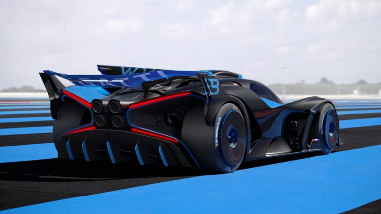 Bugatti Bolide concept, 1,825 HP and a top speed over 500 km/h