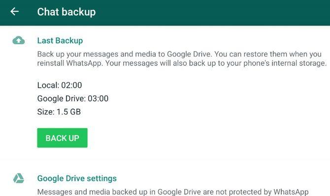 whatsapp backup issue 2021