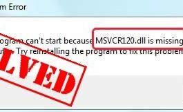 MSVCR120 DLL File Error